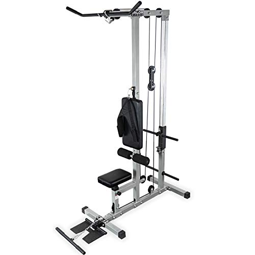 Valor Fitness CB-12 Plate Loading LAT Pull Down Machine with Lower T-Bar