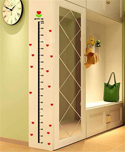 Pulabo - Medidor de altura para niños, medición de altura para niños, regla de pared, altura para colgar en la pared, decoración de pared, tipo S, creativo y útil