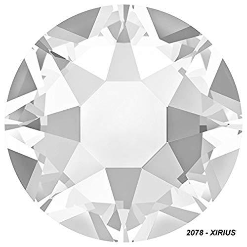Panini Tessuti Strass Termoadesivi Originali Swarovski Hotfix Rhinestone Brillantini Colori Crystal e Crystal AB (Aurora Boreale) (SS 30, 10 Pezzi Crystal)