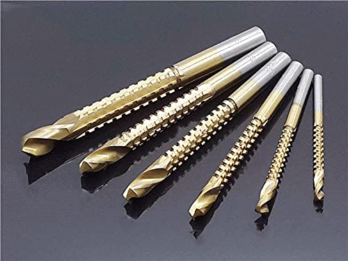 Juego de brocas recubiertas de titanio de 6 tamaños 3/4/5/6 // 8 mm, brocas de plástico para taladro de metal, sierra, ranurado, herramientas de carpintería, taladro deranuras detracción, 3 uds.