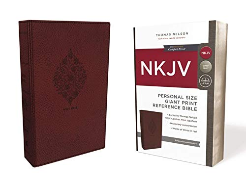 Compare Textbook Prices for NKJV, Reference Bible, Personal Size Giant Print, Leathersoft, Burgundy, Red Letter, Comfort Print: Holy Bible, New King James Version Large type / Large print Edition ISBN 9780785216704 by Thomas Nelson