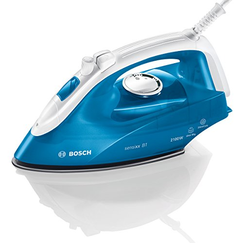 Bosch TDA2610 Sensixx B1 - Plancha de vapor, 2000 W, color azul y blanco