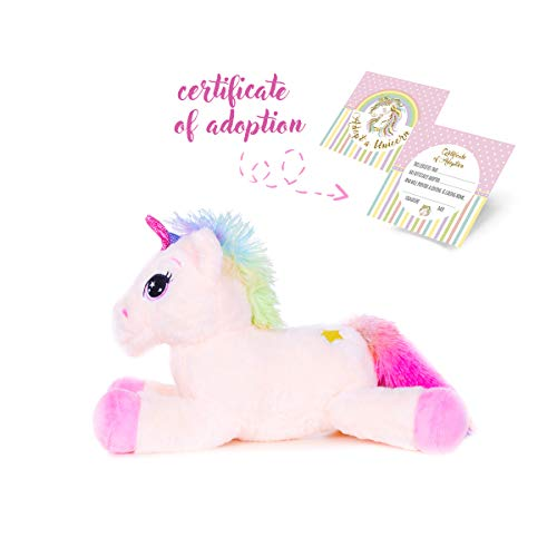 Unicorn Stuffed Animal Great Girls Gift, Kids Love to Cuddle with This Super Soft Toy. 2 Sizes and Colors, One is Perfect for Your Unicorn Lover.