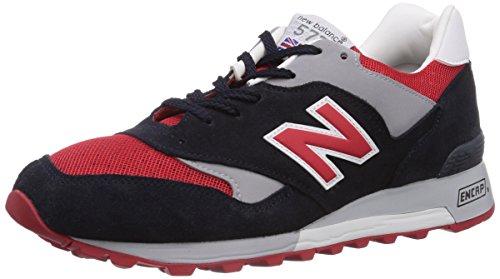 New Balance 577, Low-Top Hombre, Multicolor (Navy/Red), 42.5 EU