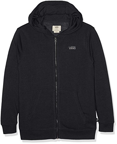 Vans Jungen CORE Basic Zip Hoodie IV Kapuzenpullover, Schwarz (Black Heather Bhh), 140 (M)