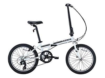 EuroMini ZiZZO Campo 28lb Lightweight Aluminum Frame Shimano 7-Speed Folding Bike 20-Inch (White 2019)