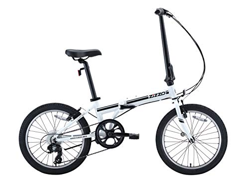 Lowest Price! EuroMini ZiZZO Campo 28lb Lightweight Aluminum Frame Shimano 7-Speed Folding Bike 20-Inch (White 2019)