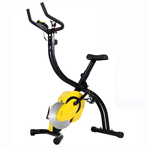 Cyclette Spinning Bike Home Magnetic Pieghevole Indoor Exercise Bike Office Stepping Spinning Multi-Funzionale (Color : Yellow, Size : 110x67x132cm)
