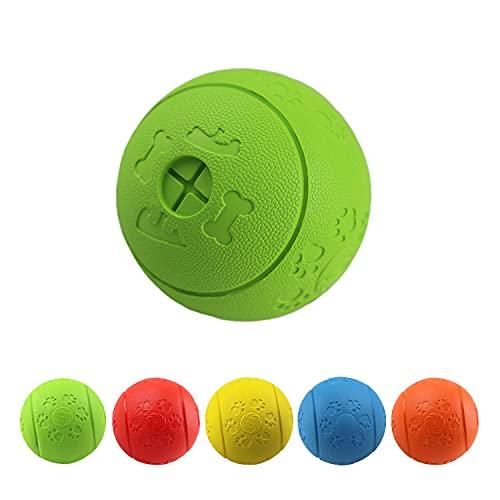MEKEET Hundeball Snackball Hundespielzeug-Ball, Leckerli-Spielzeug-Ball aus Gummi ungiftig bissfest Spielzeug-Ball für Haustier-Hunde IQ-Trainingsball (Green)