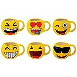 DISOK - Lote 48 Tazas Emoticonos - Regalos de Comuniones Niños/Niñas - Tazas Emojis, Emoticonos para Niños, Infantiles,...