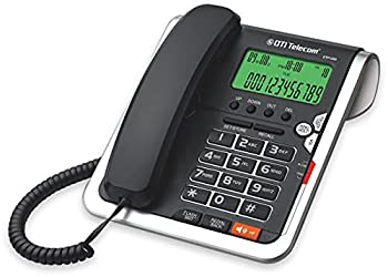 DTI DTP035 Big-Button Corded Phone with Caller ID Speakerphone Hands-Free Dialing and Speaking Function 16 Outgoing Call Memories LCD Display and 20 Ringer Tone Selection