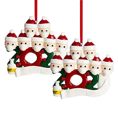 INTVN Adornos navideños 2020, Adorno de Familia Sobrevivido Adornos de árbol de Navidad Adorno de Navidad Decoraciones navideñas para árbol de Navidad Decoración del hogar (2pcs)