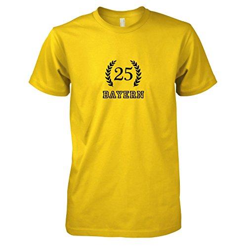 Texlab - Bayern 25 - Herren T-Shirt, Größe XXL, gelb