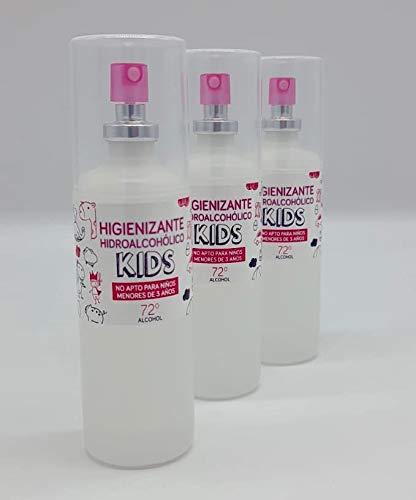 Gel hidroalcohólico en spray con aroma suave a colonia infantil con glicerina...