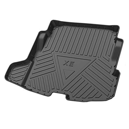 Grtodnz Auto Kofferraummatte für Jaguar XE 2018 2019 2020, Kofferraumshutz, 3D Passform Hoher Rand Antirutschmatte Gummi Matte