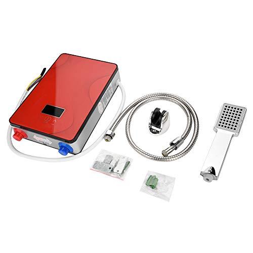 zcyg Alcachofa de Ducha Calentador De Agua Instantáneo, 220V 6500W Sin Tanques Instant Electric Hot Hot Hot Hot For Home Bathroom Ducha Color Rojo