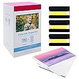 Oozmas - Compatible con Canon Selphy KP-108IN Papel fotográfico 100 x 148mm, Selphy Cartucho y Papel para Selphy CP1200 CP1300 CP910 CP900 (108 hojas de papel de impresora, 3 cartuchos de tinta)