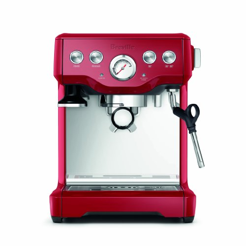 Breville BES840CBXL Infuser Espresso Machine, Cranberry Red