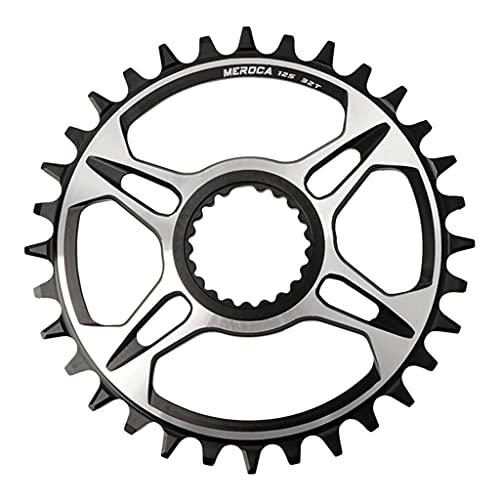 MSEKKO Plato de Montaje Directo de 12 velocidades 32T / 34T / 36T / 38T para Shi Mano M6100 / M7100 / M8100 / M9100, Piezas de Anillo de Cadena de Bicicleta y bielas