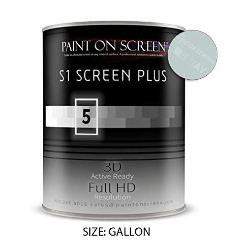 Projector Screen Paint (S1 Screen Paint Silver) - Home & Professional Use - Up to 240'