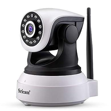 Foto di Sricam SP017 telecamera wi-fi interno senza fili 1080P telecamera videosorveglianza wifi telecamera sorveglianza wifi videocamera Audio Bidirezionale, Modalità Notturna a Infrarossi