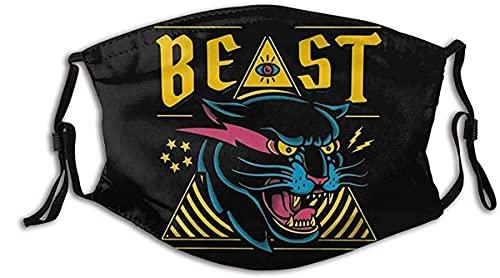 Mr Beast Merch Ferocious Tiger Face Mask Adult for Women Men Breathable Cloth Face Mask Washable Fashion Designer