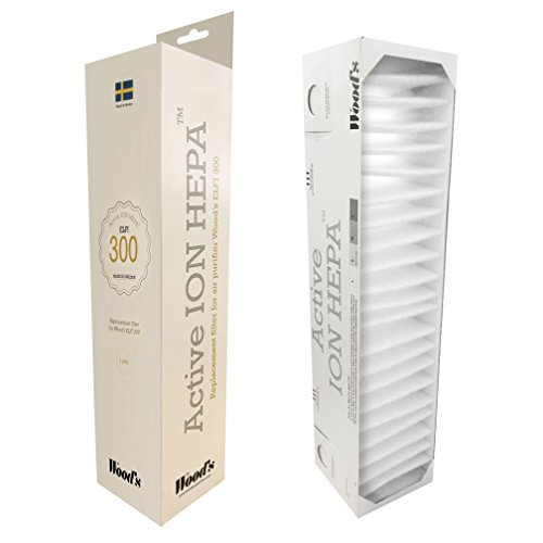 wood' S WHE301Filtro HEPA Ion Active para elfi300, color blanco