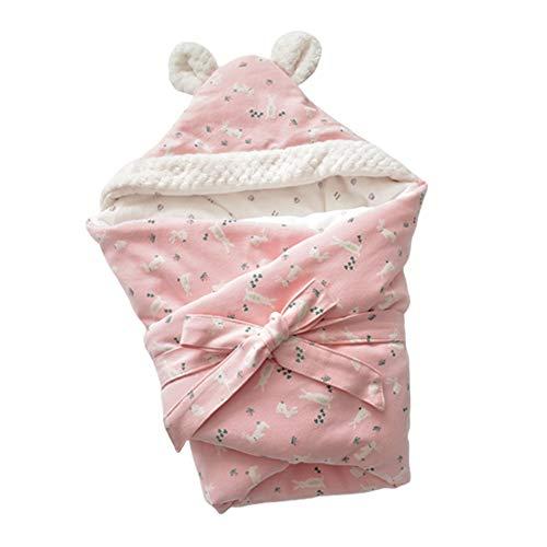 ZYEZI Couverture d'enveloppe de Sac de Couchage pour bébé, Poussette Mignonne Universelle pour Nouveau-né Sommeil Sac à Langer Lapin Rose