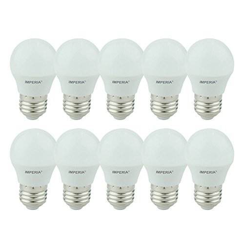 Imperia 6013229 LED-lamp bol E27, 6 W, mat wit 7,8 x 4,5 x 4,5 cm, 10 stuks