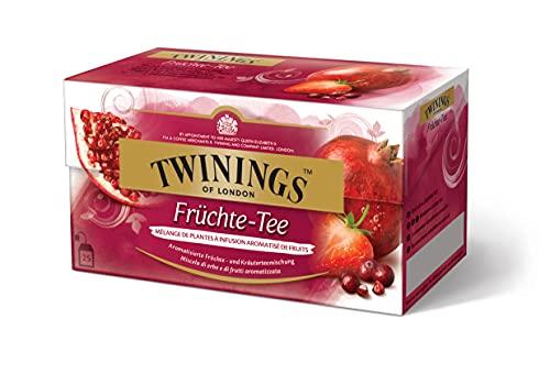 Twinings Früchte-Tee - erfrischender Tee mit fruchtigen Aromen von Moosbeere, Granatapfel und Erbeere im Beutel, 25 Teebeutel (50 g)