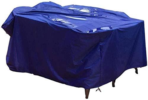 Fundas para Muebles de jardín a Prueba de Agua, Cubierta para Muebles de Patio, a Prueba de Viento, a Prueba de Polvo, Impermeable, Duradera, toldo para Exteriores, Personalizable, Azul