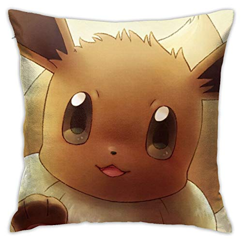 Pillow Case Eevee (Pokémon) Eeveelutions Home Throw Pillow Case Cushion...