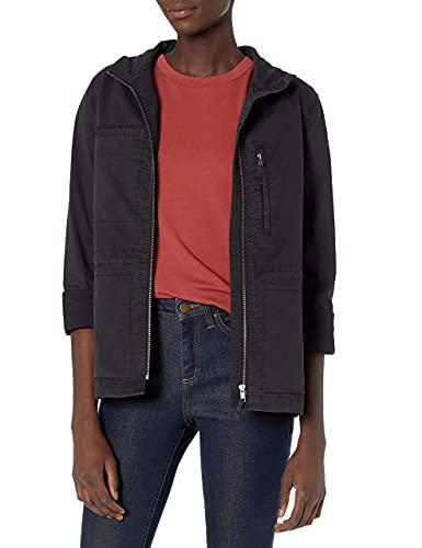 Amazon Brand - Daily Ritual Women's Military Cargo Jacket, navy, 6