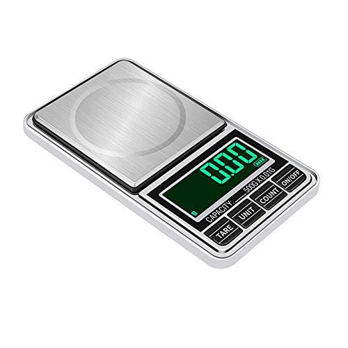 WSFANG Balanza de Cocina De precisión 0.01g Bolsillo /0.1g Escalas Digitales for Oro Sterling Peso joyería de balanzas electrónicas de gram Cocina, Comedor, repostería, etc. (Color : 1000g x 0