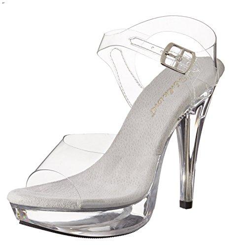 Pleaser Women's Cocktail-508/C/M Platform Sandal,Clear/Clear,9 M US