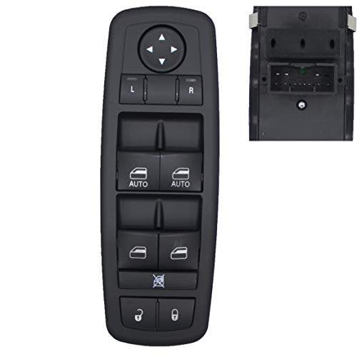 MOCW 68231805AA Power Window Master Control Switch Left Driver Side Fit for 2011-2012 Chrysler 300 C S, for 2011-2014 Dodge Charger, for 2015-2017 Chrysler 200 C S,2016 Ram 1500 2500 3500 4500 5500