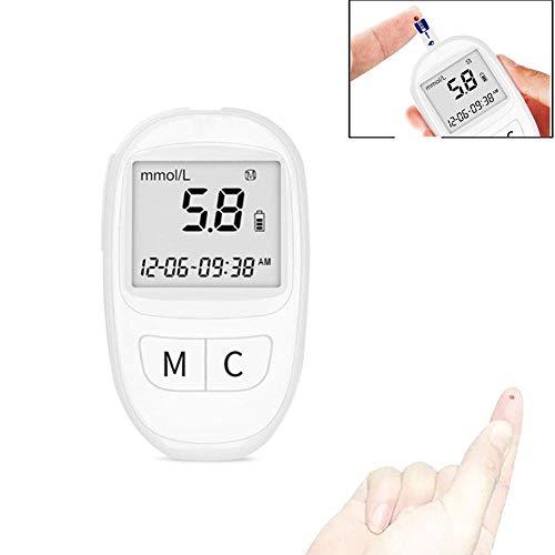 WSJ-Blutzuckertester, Diabetes-Testkit, Blutzuckermessgerät mit Teststreifen x 50 und schmerzfreien Lanzetten X 50 Mmol/l