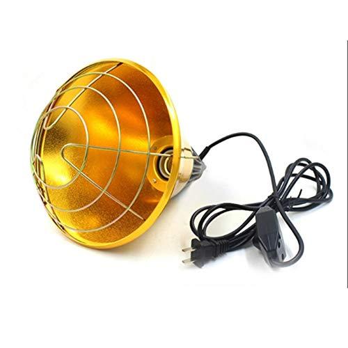 Pista de calefacción por mascotas Interruptor ajustable 250W Aves calor Incubadora lámpara de infrarrojos y la gallina mascotas Bombilla Cría de Ganado chick Piggy patito caliente Hábitat de reptiles