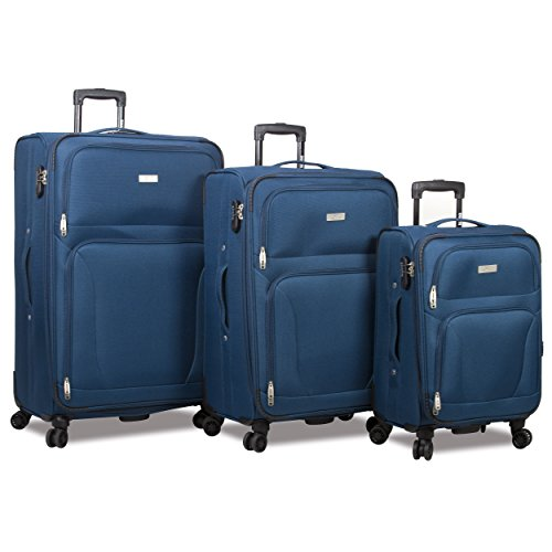 Rolite Trek 3-piece Expandable Spinner Combination Lock Luggage Set-Teal, One Size