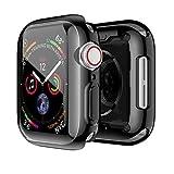 Sakula Apple Watch Series 5 対応 ケース TPU メッキ加工 耐衝撃性 超薄 フルカバー Apple Watch Series 4 44mm 対応 カバー ブラック