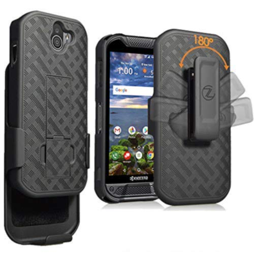 ZASE Holster Clip Case for DuraForce PRO 2, Kyocera DuraForce PRO 2 (Verizon) E6920 E6910 E6900 Tough Slim Protective Rugged Case Armor Defender Strong Belt Clip [Kickstand]