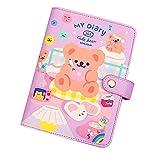 Quaderni A6 Binder Kawaii Diario a spirale Diario DIY Notebook Agendas Planner Organizer Note Books Carino viaggiatore viaggiatore School Manuale della scuola per le ragazze (Color : B, Size : A6)