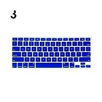 防水ラップトップキーボードカバーソフトケースFor MacBook Air Pro 13/15/17インチプロテクターキーボードカバー防塵フィルムsi-Black-