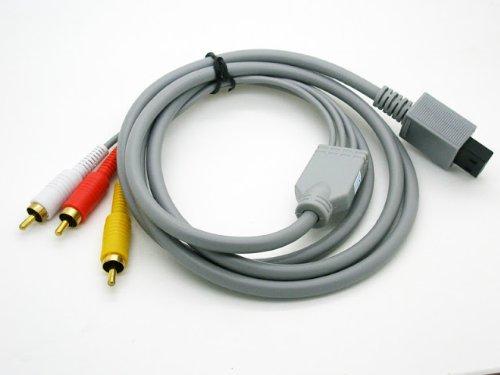 Cable Adaptador de 1 Conexion de Wii a 3 RCA Audio Video para Nintendo Wii 2501