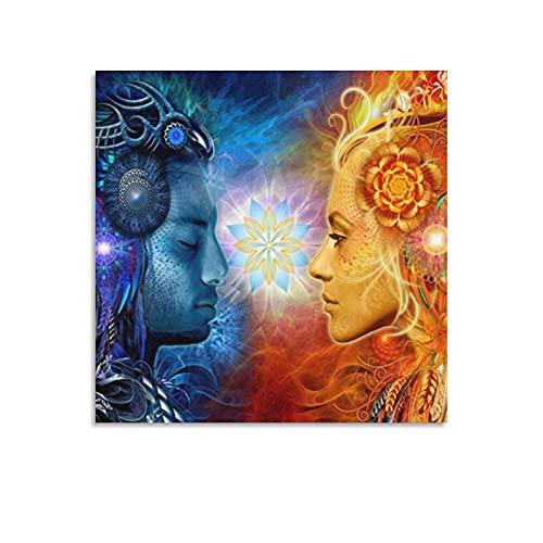 Tantra Shiva e Shakti Hindu Dei Poster da parete Modern Pop Art Quadro da parete per soggiorno,...