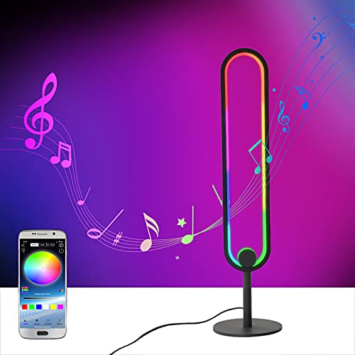 Color Changing Side Table Lamp with App, Nightstand LED Smart RGB Music Sync Mood Lamps with 16 Million Colors for Living Room,Bedroom,Gaming Desk, Bedside Table