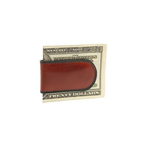 Bosca Old Leather Collection-Magnetic Money Clip, Cognac