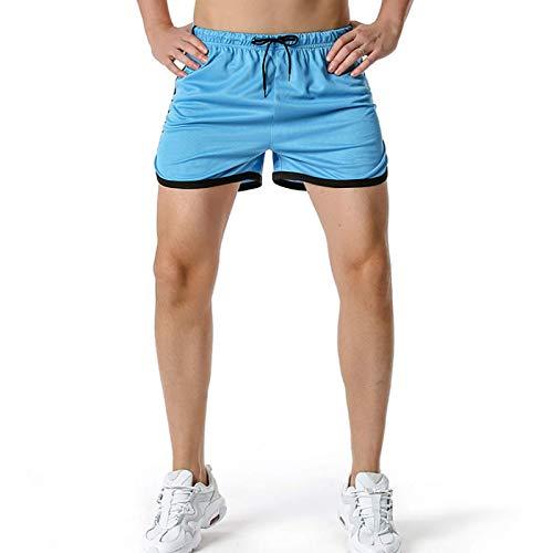 Malla de Primavera/Verano, Pantalones Cortos de Gimnasia con ventilación Completa, Pantalones Cortos Deportivos versátiles para Entrenar, Correr y Hacer Ejercicio para Hombres XL