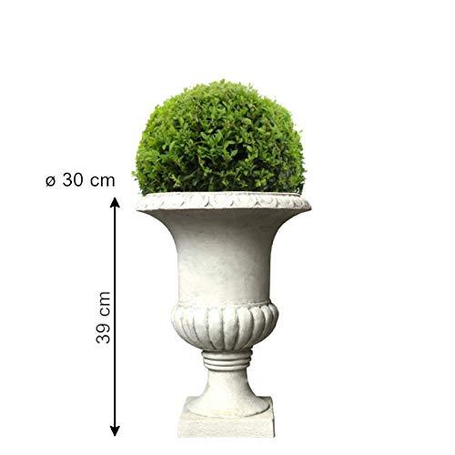 Chemin_de_camp vaas, bloempot, cementvezel, steenkleuren, diameter 30 cm