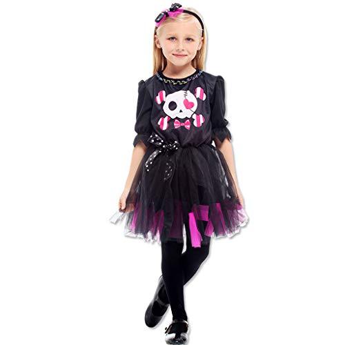 JPOYT-O Disfraz De Bruja para Niños Disfraz De Halloween para Niñas(Size:120-130CM)